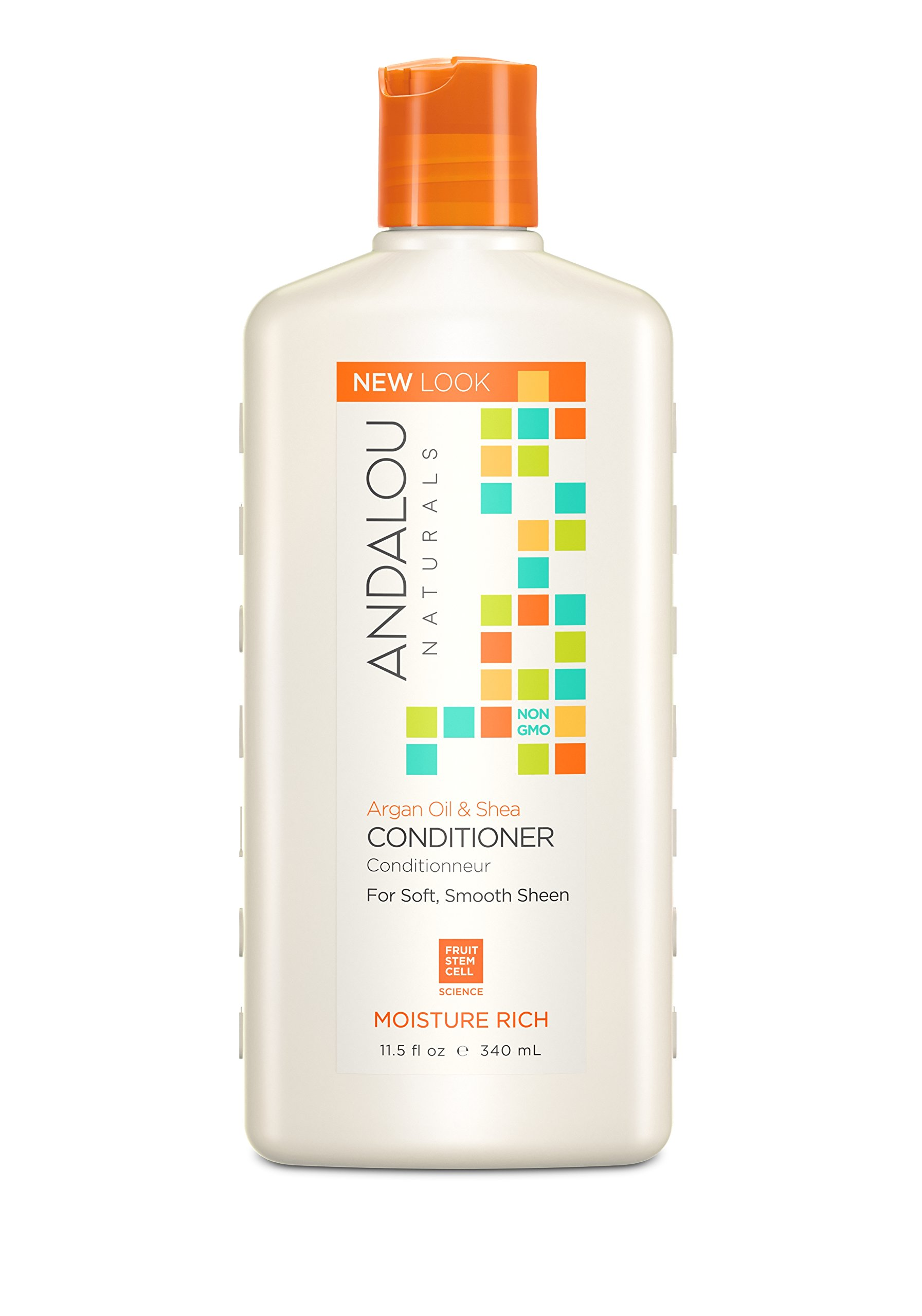 Andalou Naturals Argan Oil & Shea Moisture-Rich Conditioner, 11.5 oz, For Dry, Frizzy, Curly, Wavy Hair, Helps Smooth & De-Frizz Split Ends
