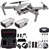 DJI Mavic Pro Platinum with Extra Battery, Flagship 4K Quadcopter Drone with 30 Mins Flight Time, 7 km Range, Obstacle…