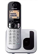 Panasonic KX-TGC210 - Teléfono fijo inalámbrico (LCD, identificador de llamadas, agenda de 50 números, tecla de navegación, modo ECO, reducción de ruido), Plata, TGC21 Solo