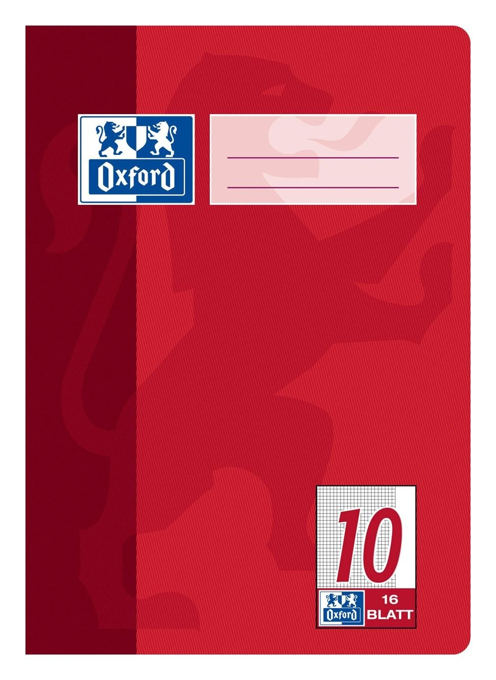 Hamelin Paperbrands Oxford 384501610 School Notepad A5 16 Sheets Line Style 10 Pack of 15