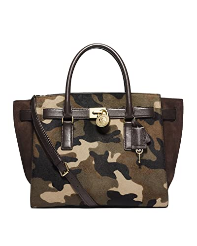 d8f6eb17eff7c1 Michael Kors Camo Haircalf Medium Hamilton Tote Duffle Bag: Handbags:  Amazon.com