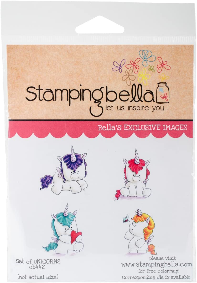 17.14 x 11.43 x 0.63 cm Stamping Bella Cling Stamp Multi-Colour