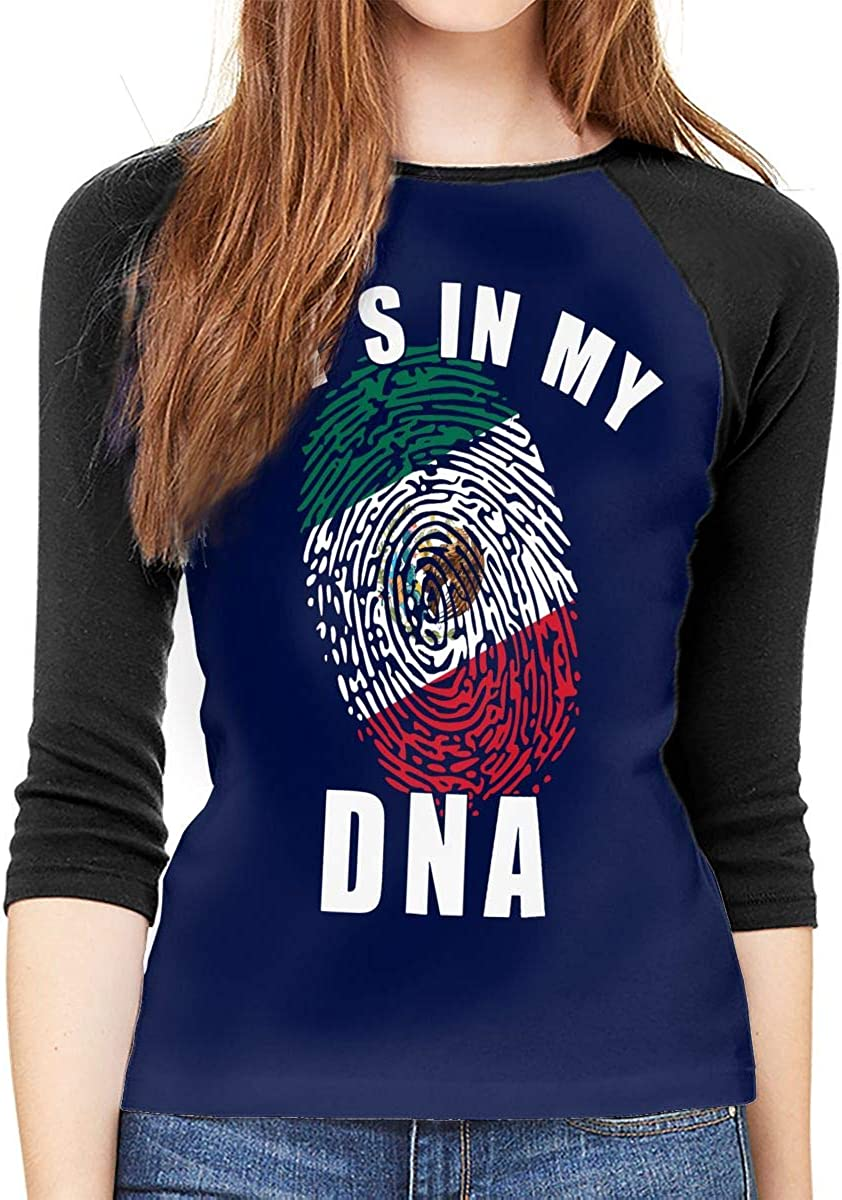 Mexico Its in My DNA Adult Womens Long Sleeve T Shirt