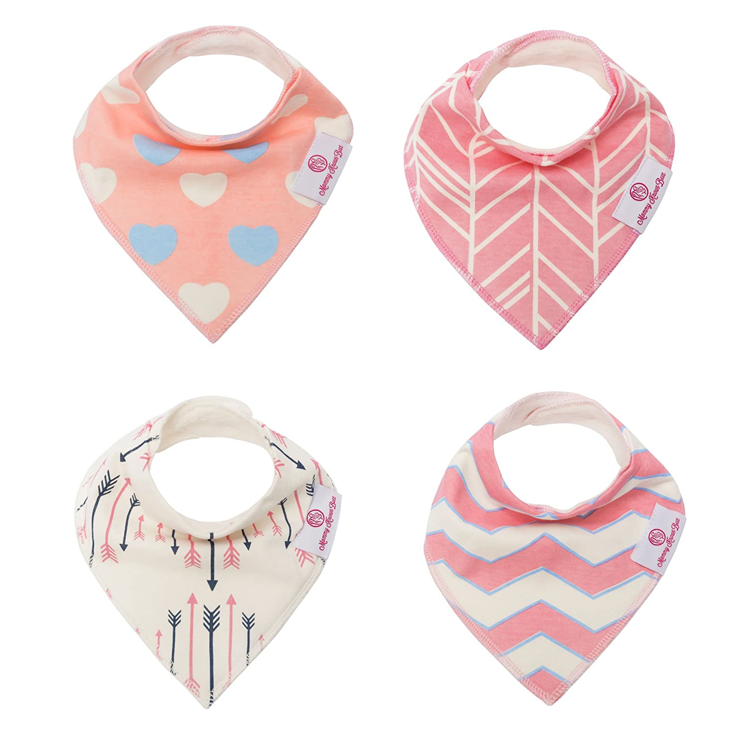 Baby Bandana Drool Bibs Set: 4 Pack Mommy Knows Best