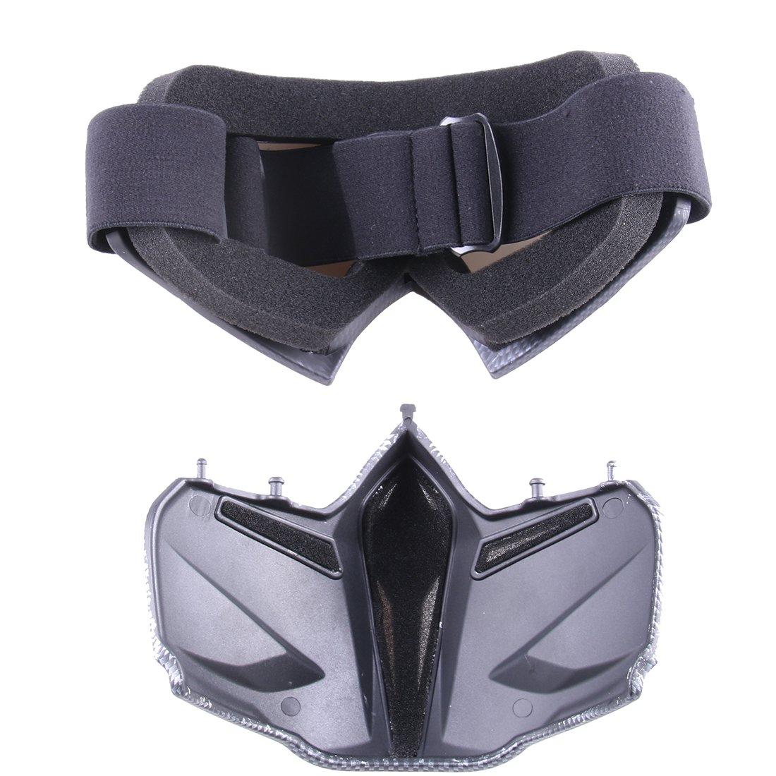 GANADA Masque de Protection Masque Tactique Masque Cool pour Nerf