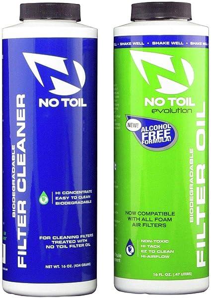 no-toil Evo Filtro de aceite Cartucho limpiador (2pk) para ...