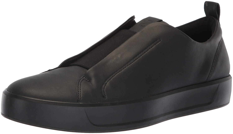 Black Stretch ECCO Men's Soft 8 Slip on Sneaker