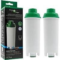 2 x FilterLogic CFL-950B - Filtro de agua para cafetera automática de DeLonghi reemplaza el cartucho DLS C002 / DLSC002…