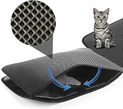 Amazon.com: Alfombrilla de arena de gato de EVA de CLORIS de ...