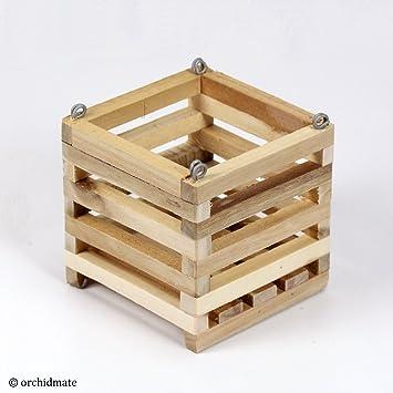 Amazoncom Wood Cedar Slat Vanda Orchid Basket Square 5 Inch Baby