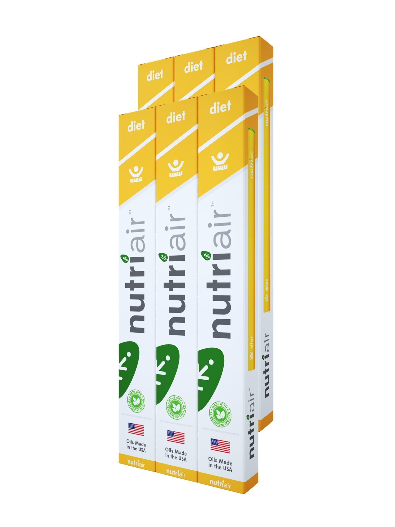 Nutriair Diet - Nutritional Supplement Inhaler - Instant Appetite Suppressant - Block Food Cravings - Control Calorie Intake (6) by Nutriair