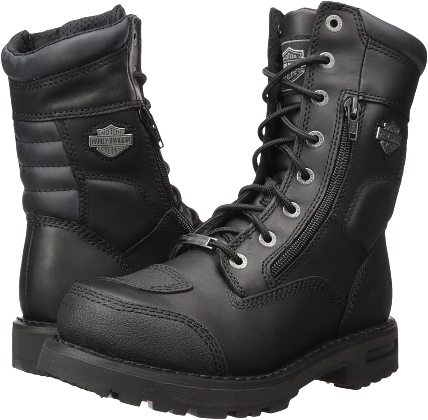 Harley Davidson Boots Black Leather sz 8  Harley Riding Boots Vintage Motorcycle Riding Boots EUR 41 Harley Boots sz 8 US UK 7