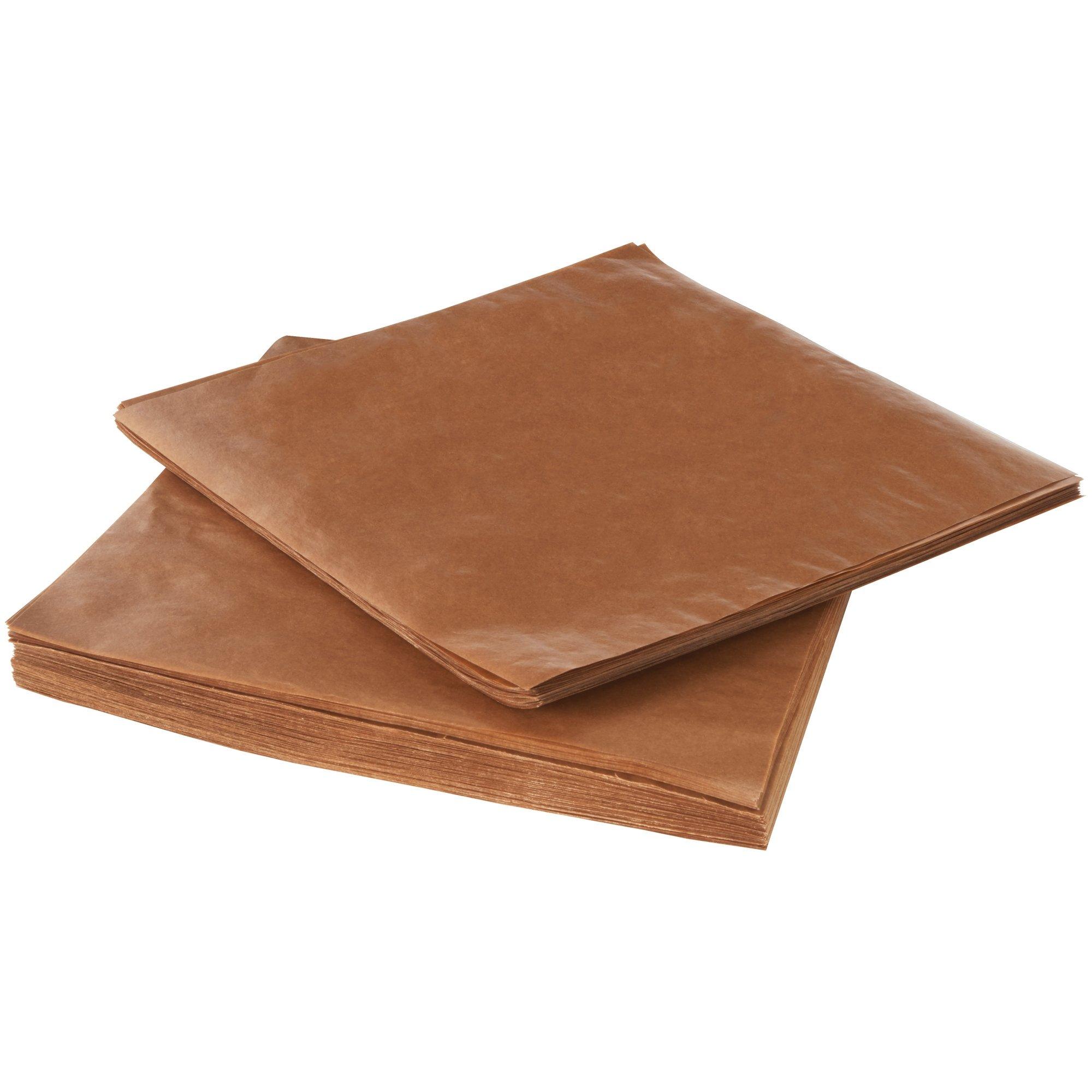 Waxed Paper Sheet, 12'' x 12'', Kraft, 3,400 Sheets by Choice Shipping Supplies