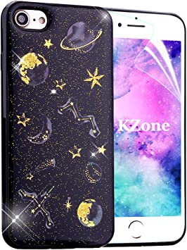 OKZone Funda iPhone 7 Plus,Funda iPhone 8 Plus, [Serie Noche Estrellada] Cárcasa Brilla Glitter Brillante TPU Silicona Teléfono Smartphone Case para Apple iPhone 8 Plus/iPhone 7 Plus: Amazon.es: Electrónica