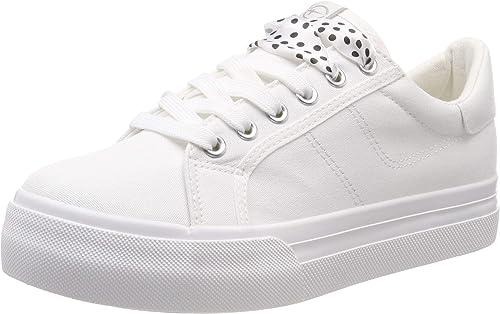 Tamaris Women's 1 1 23602 22 Low Top Sneakers, White 100 8