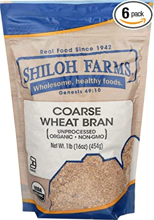 Amazon Com Shiloh Farms Wheat Bran Og Coarse 1 Count Pack Of 6 Wheat Flours And Meals Grocery Gourmet Food