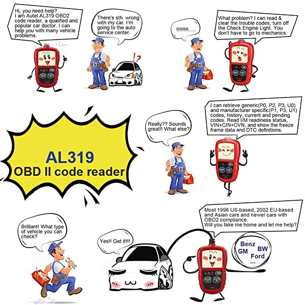 Autel Al319 offers various functions and extensive vehicle coverage that not many car code reader can do.