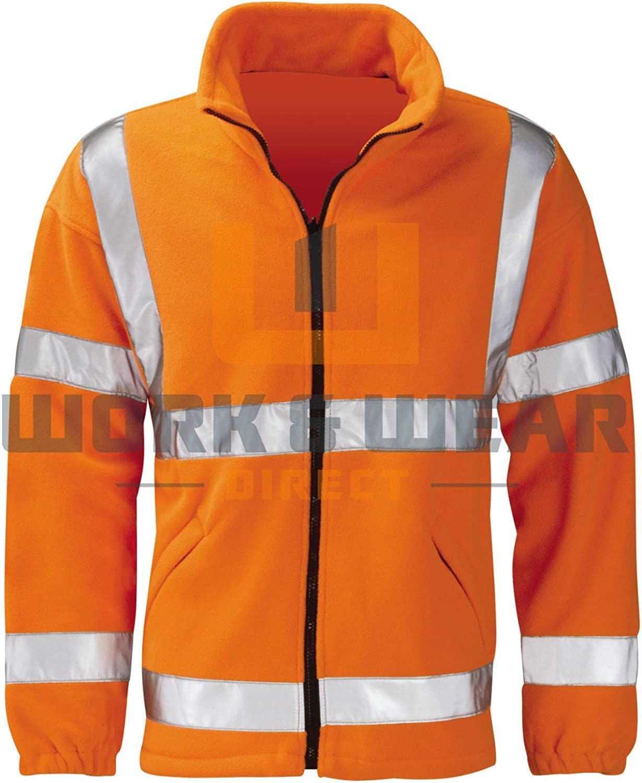 Black Knight HVFLER Gladiator GO//RT EN471 Fleece Jacket Orange