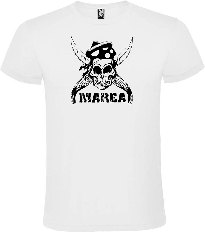 ROLY Camiseta Blanca con Logotipo de Marea Hombre 100% Algodón Tallas S M L XL XXL Mangas Cortas: Amazon.es: Ropa y accesorios