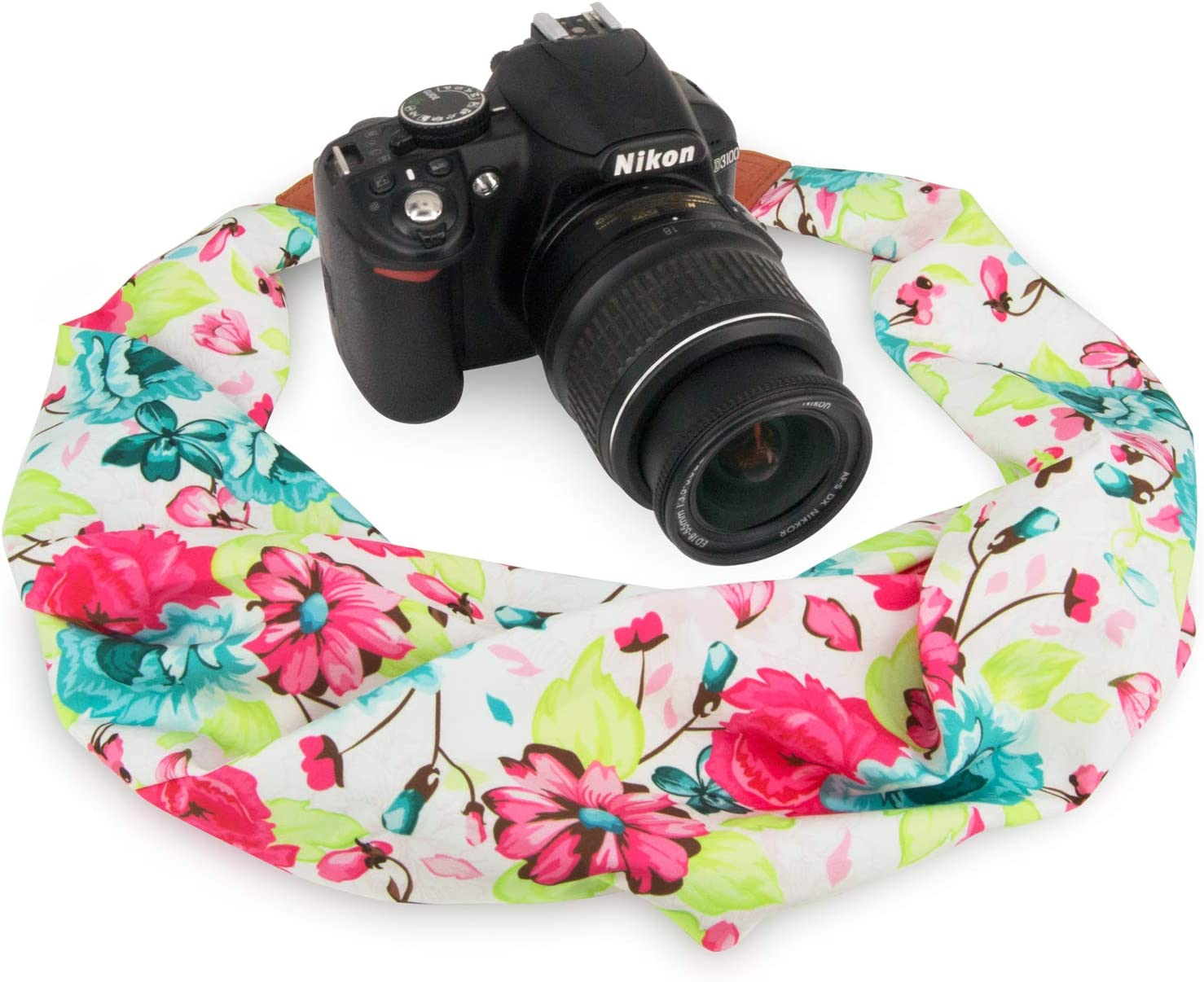 //Instant Camera//Nikon//Canon//Sony//Pentax//Olympus//Leica//Fujifilm etc Wolven Soft Scarf Camera Neck Shoulder Strap Belt Compatible with All DSLR//SLR//Digital Camera DC Pattern 05