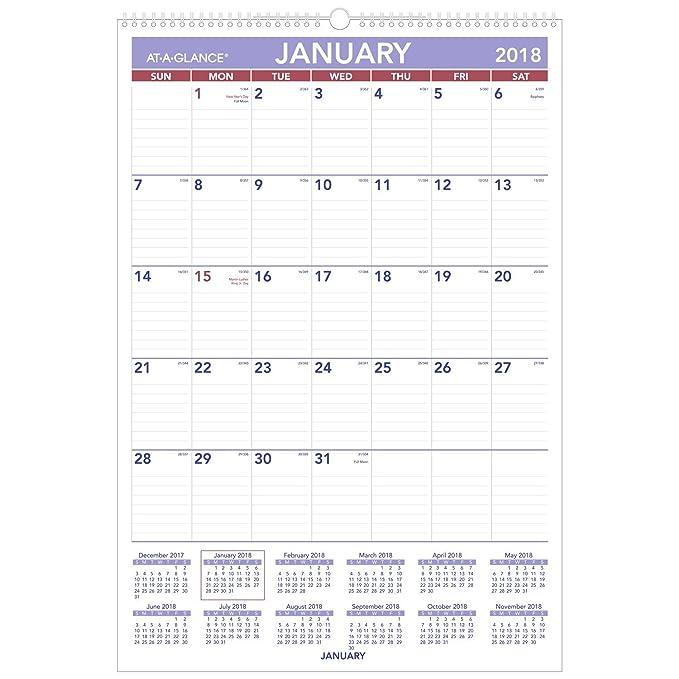 Amazon.com: At-A-Glance – Calendario mensual Calendario de ...