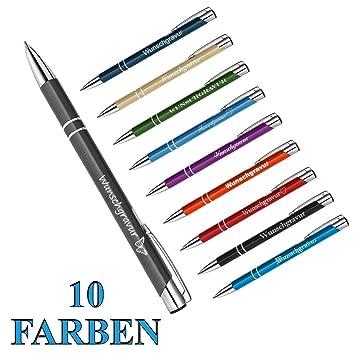 Kugelschreiber Kuli blau glänzend incl Gravur