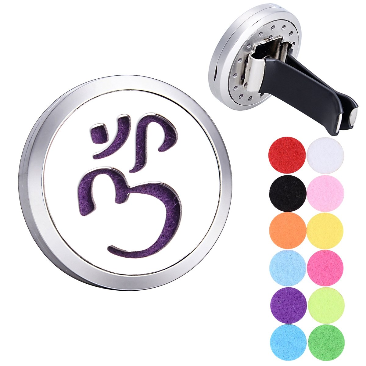 ohm om aum yoga Car Air Freshener Aromatherapy Essential Oil Diffuser Stainless Steel Locket Supreme glory