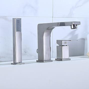 Decor Star RM305-TB Contemporary Bathroom Roman Tub Faucet Filler ...