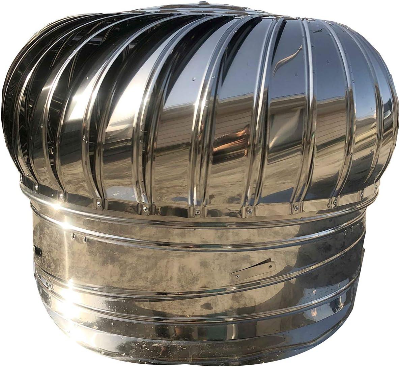 QWEASDF Acceso a la Chimenea Acero Inoxidable Acceso Resistente a la Bola giratoria Bola Chimenea Atención de ventilación Horno rotativo Rotación de la Lluvia Cubierta de Chimenea Ø110-400mm,200mm