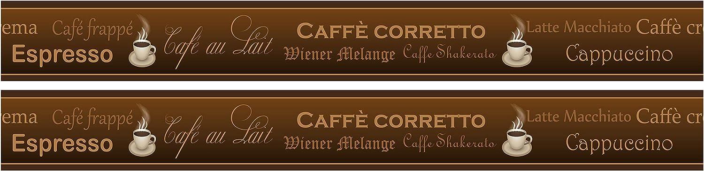 Vlies Borte Tapetenbord/üre Bord/üren Borde Wandborde Coffee Coffee Caf/é M0026 wandmotiv24 Bord/üre Kaffee 260cm Breite
