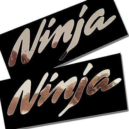 2 Pegatinas con diseño Ninja, de Plata y Cromo, para ...