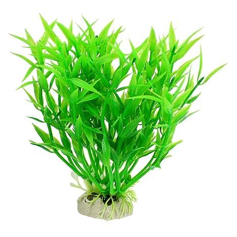 """SODIAL(R) 5.5 """"Altura Decoracion planta acuatica de paisajismo plastico verde para"""