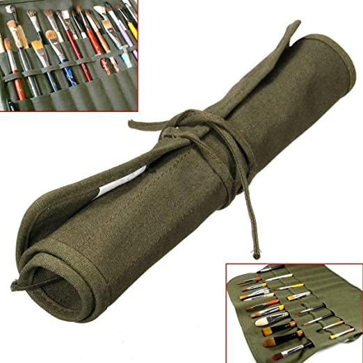 Estuche para pinceles, multiusos, dibujo en color, capacidad de hasta 22 pinceles (no incluidos): Amazon.es: Hogar