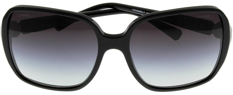 Amazon.com: Chanel anteojos de sol mujer negro CH5284 ...