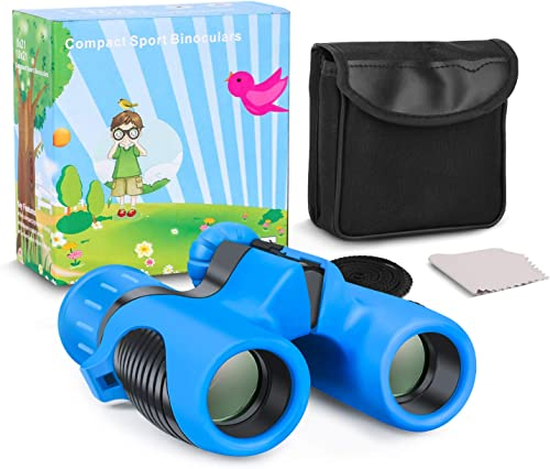 Kids Binoculars, Shock Proof 8×21 Kid Binoculars Toy Gift,High Resolution Real Optics with Folding Spotting Telescope for Bird Watching, Hunting,Hiking,Christmas Birthday Presents for Boys and Girls