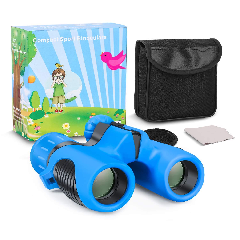 Kids Binoculars, Shock Proof 8×21 Kid Binoculars Toy Gift,High Resolution Real Optics with Folding Spotting Telescope for Bird Watching, Hunting,Hiking,Christmas Birthday Presents for Boys and Girls