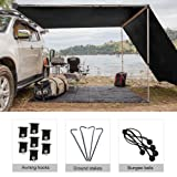 Shatex RV Awning Shade with 90% Privacy Screen Free Kit 8' x 12', Black