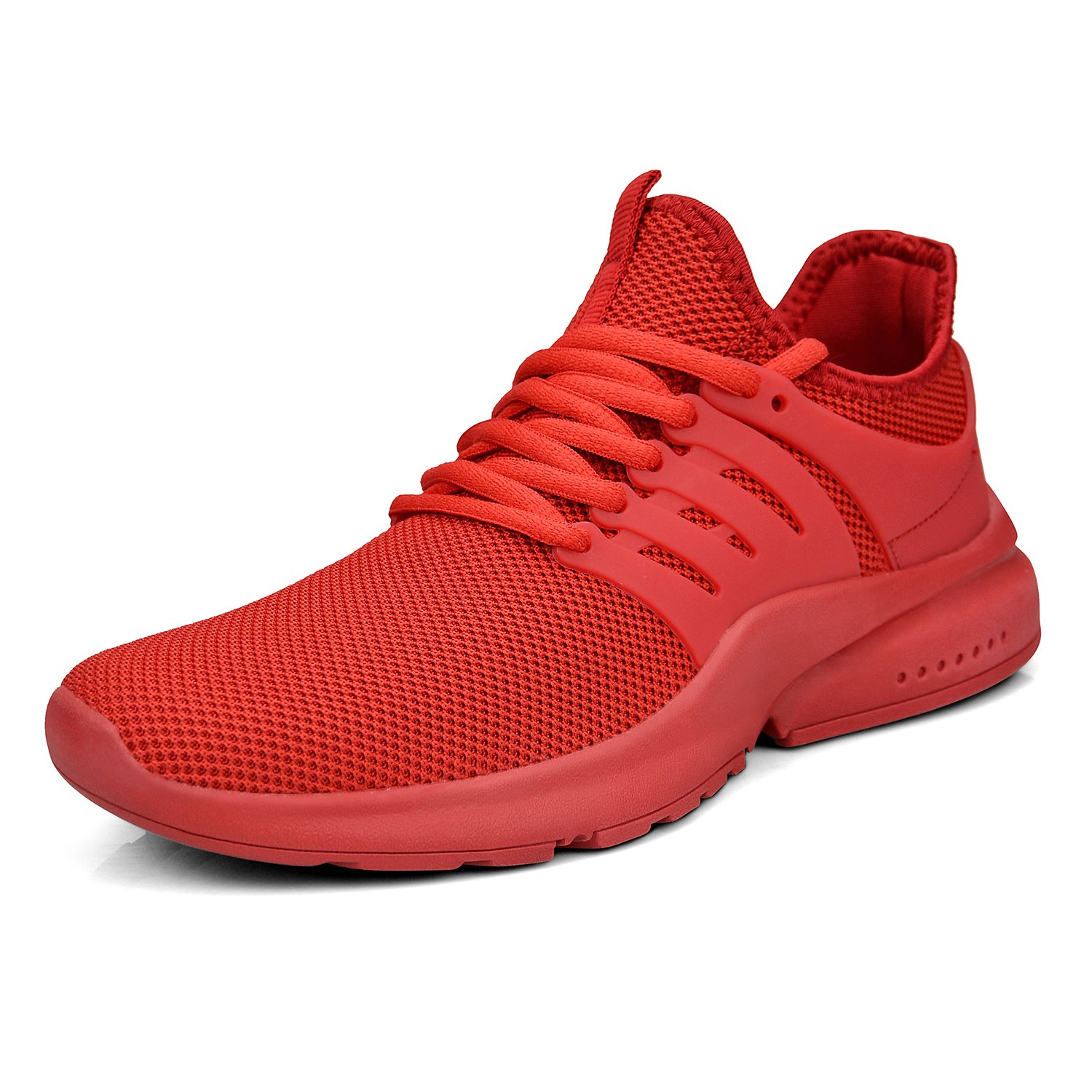 ZOCAVIA Womens Running Shoes,Sport Casual Fashion Lightweight Sneakers(Red,Size 8) by ZOCAVIA
