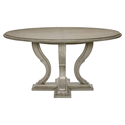 Amazoncom Kathy Kuo Home Michelle French Country Grey Oak Round