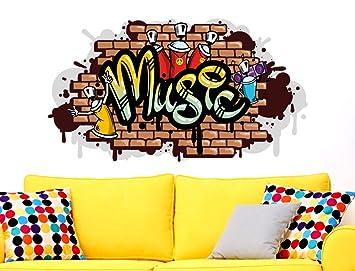 I Love Wandtattoo WAS 10613 Jugendzimmer Wandsticker U0026quot;Music Im  Graffiti Styleu0026quot