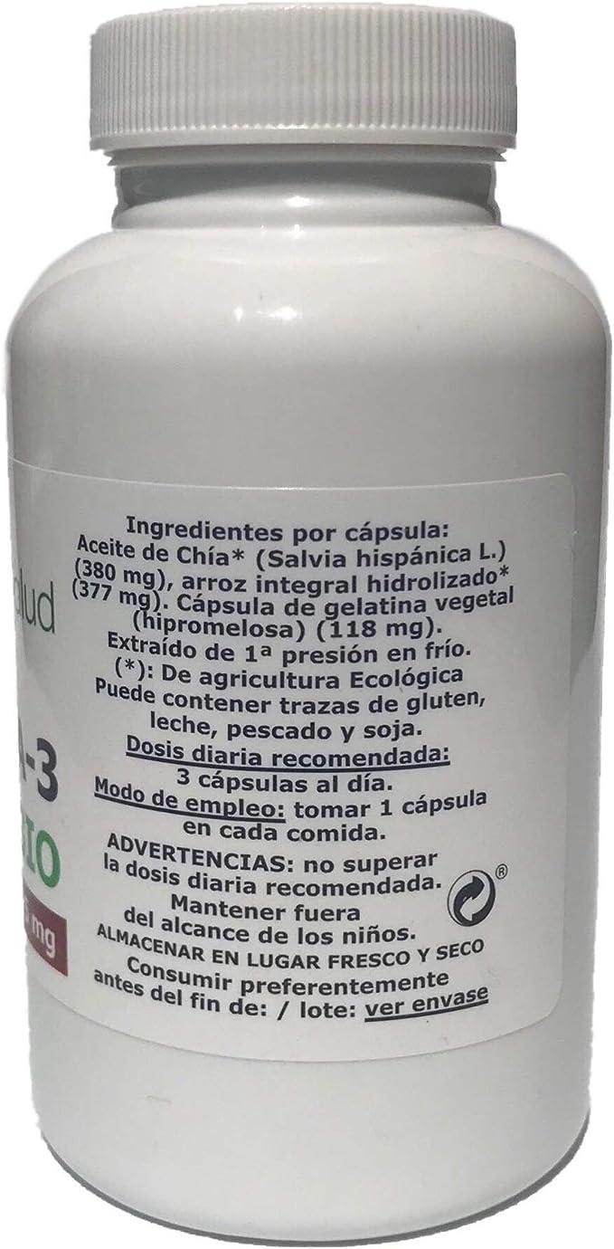 Omega 3,6,9 - Aceite de Chía - 875 mg - BIO - Suplemento Vegáno ...
