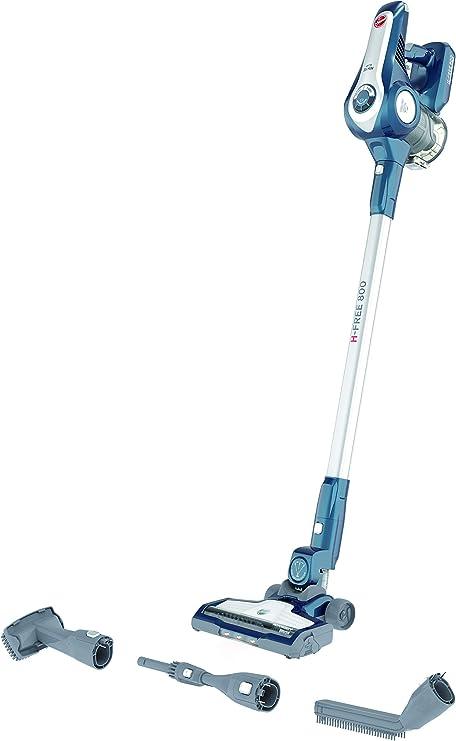 Hoover H-Free 800 HF822LHC Aspiradora Escoba sin Cable, 35 min autonomía, Moto Inverter, Ciclónico, Set Completo de Accesorios, Hogar y Coche, Batería Ion Litio 22 V, 3 Velocidades, Azul Iluminado: Amazon.es: Hogar