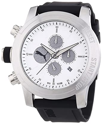 Puma Time Montre Homme Quartz Chronographe ChronomètreAlarme Bracelet Résine