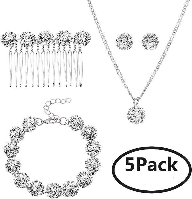 wedding earrings for brides pearl bridal earring and hair comb set crystal earrings chandelier Wedding hair comb earrings Bridal hair comb