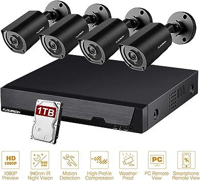 FLOUREON 1080P 3000TVL AHD CCTV DVR Night Vision Security Indoor Outdoor Camera