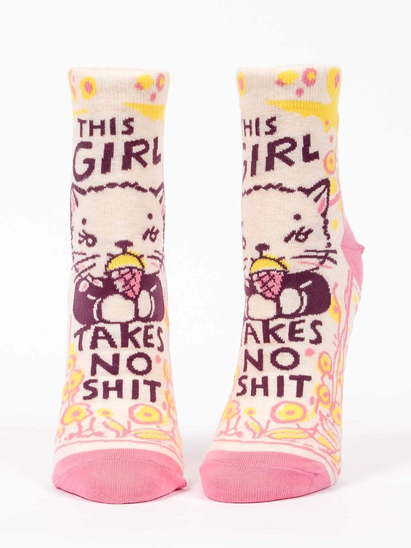 This Girl Takes No Shit BlueQ Ankle Sock