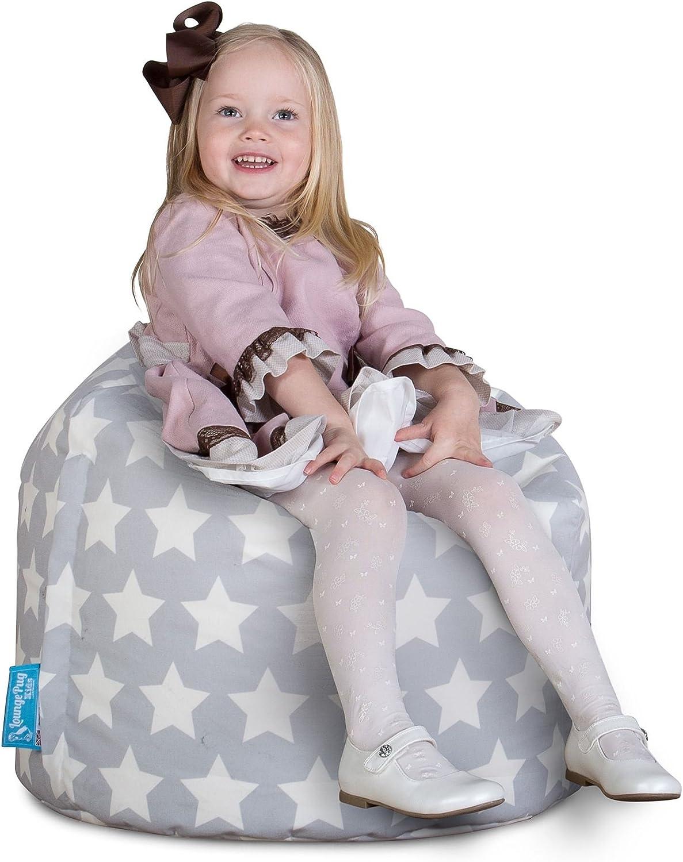 Motivo per Bambini Poltrona Sacco per Banbini Lounge Pug/® Pouf Stella Grigio