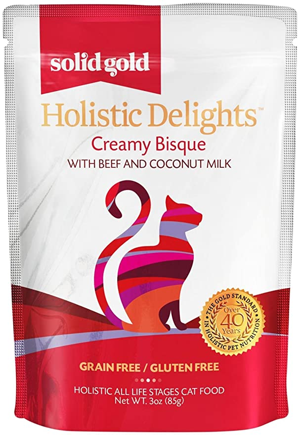 Sold Gold 12 Count Holistic Delights Creamy Bisque with Chicken and Coconut Milk (1 Case), 3 oz