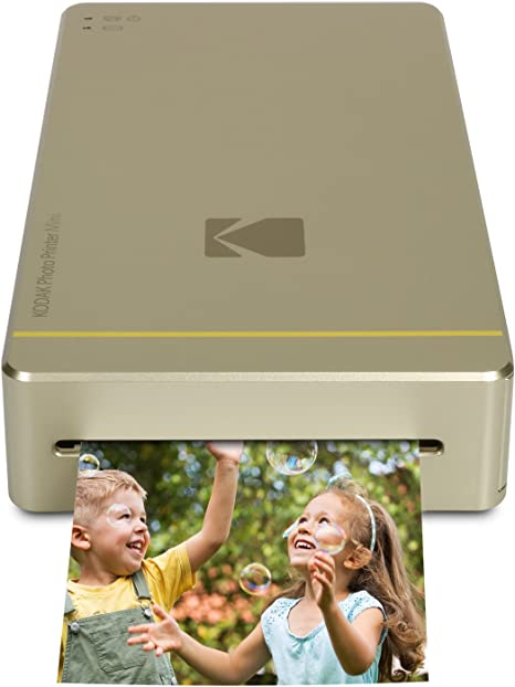 Kodak Mini Portable Mobile Instant Photo Printer - Wi-Fi & NFC Compatible - Wirelessly Prints 2.1 x 3.4 Images, Advanced DyeSub Printing Technology ...