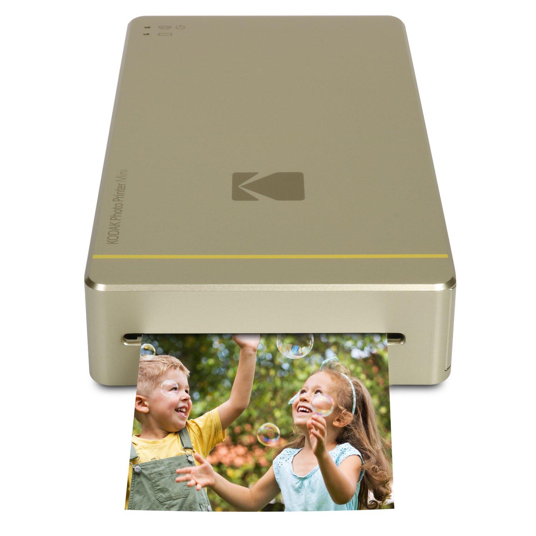 Kodak Photo Printer Mini WiFi - Impresora fotográfica (impresión por sublimación, Cian, Magenta, Amarillo, 16,7 M, MicroUSB), oro